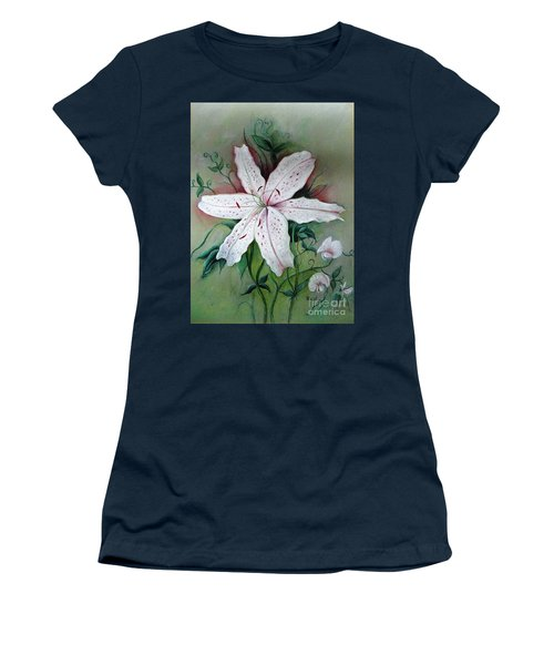 Women's T-Shirt (Junior Cut) featuring the painting Beauty For Ashes by Hazel Holland