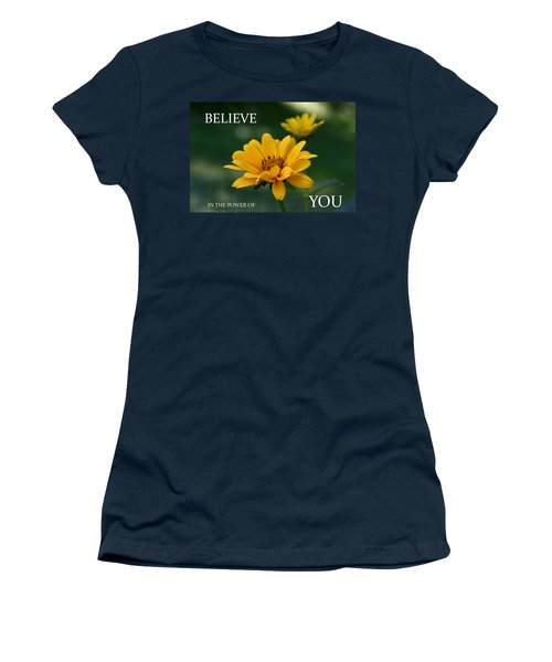 Believe Women's T-Shirt (Athletic Fit)
