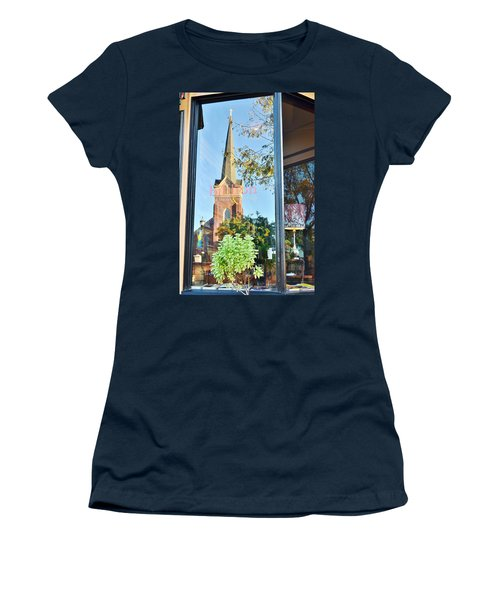 Biblion Used Books Reflections 3 - Lewes Delaware Women's T-Shirt