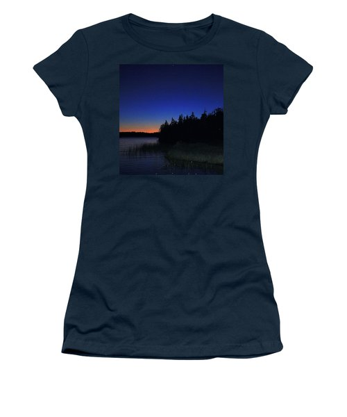 Black And Blue Sky Women's T-Shirt (Athletic Fit)