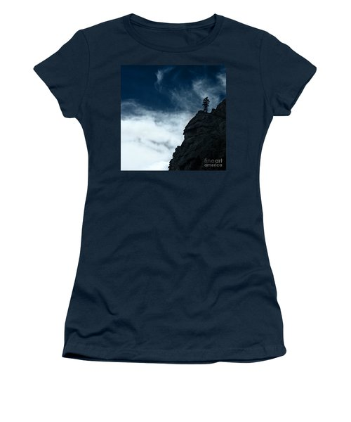 Women's T-Shirt (Junior Cut) featuring the photograph Black Cliff by Dana DiPasquale