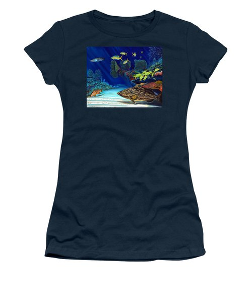 Black Grouper Reef Women's T-Shirt (Athletic Fit)