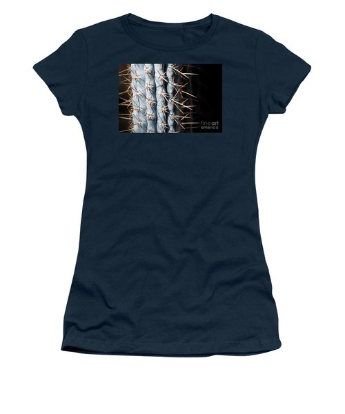 Women's T-Shirt featuring the photograph Blue Cactus by John Wadleigh