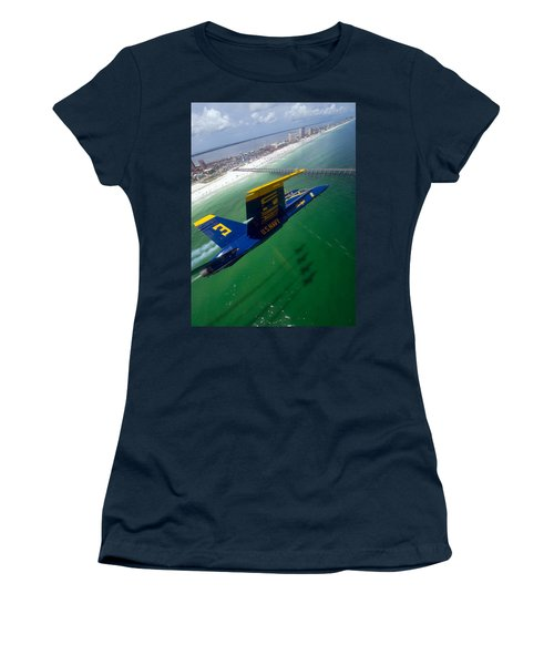 Blue Green Women's T-Shirt (Athletic Fit)