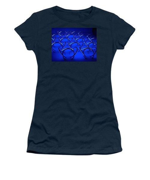 Blue Haze Circles Women's T-Shirt (Junior Cut) by Joan Reese