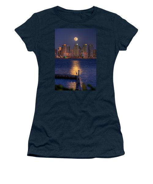 Blue Heron Moon Women's T-Shirt