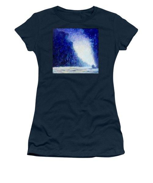 Blue Landscape - Abstract Women's T-Shirt