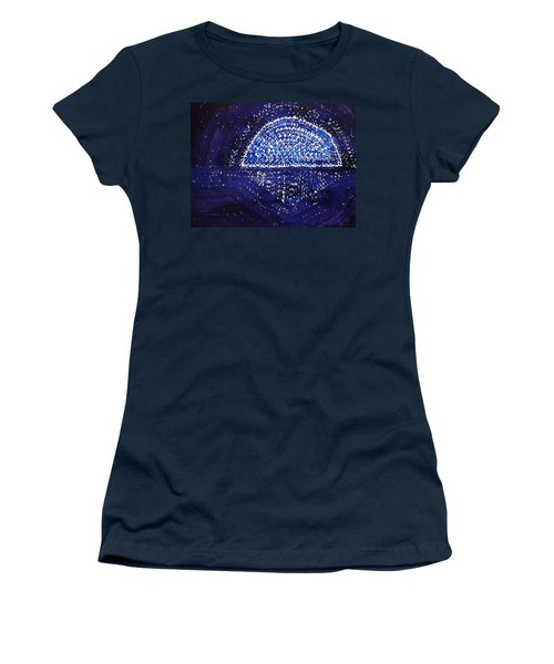Blue Moonrise Original Painting Women's T-Shirt