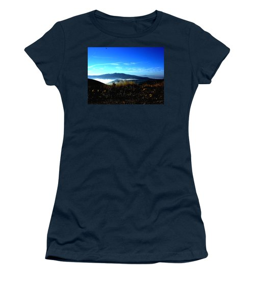 Blue Mountain Landscape Umbria Italy Women's T-Shirt (Athletic Fit)