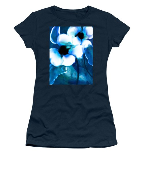 Women's T-Shirt (Junior Cut) featuring the digital art Blue Orchids  by Frank Bright