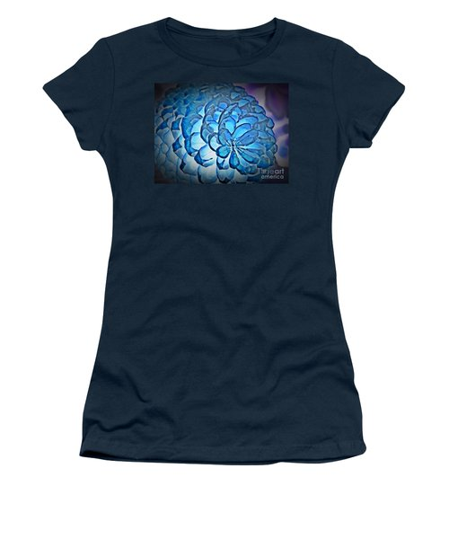 Blue Pine Cone 2 Women's T-Shirt (Junior Cut) by Chalet Roome-Rigdon
