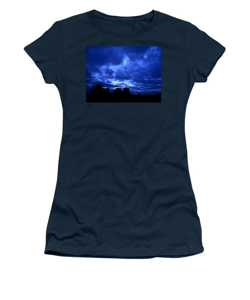 Blue Storm Rising Women's T-Shirt (Junior Cut) by Mark Blauhoefer