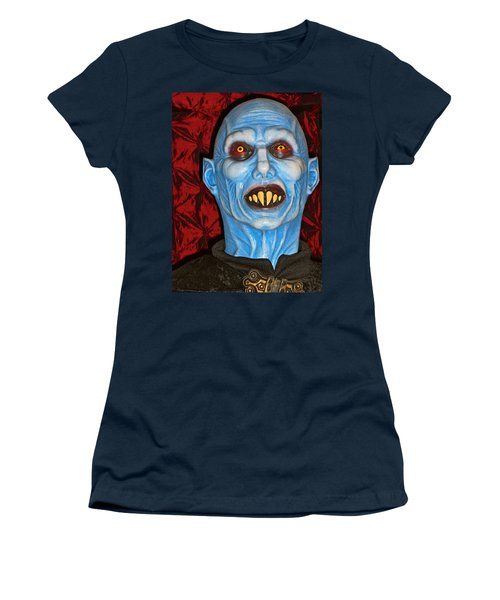 Women's T-Shirt (Junior Cut) featuring the photograph Blue Vampire by Joan Reese