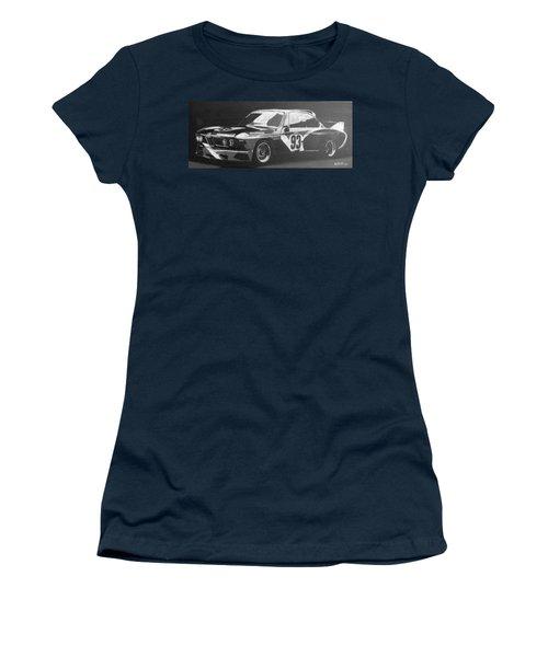 Bmw 3.0 Csl Alexander Calder Art Car Women's T-Shirt