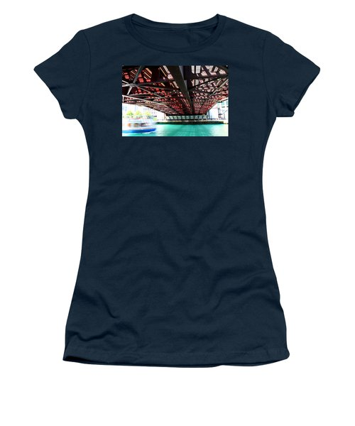 Boat Under Steel Bridge Women's T-Shirt