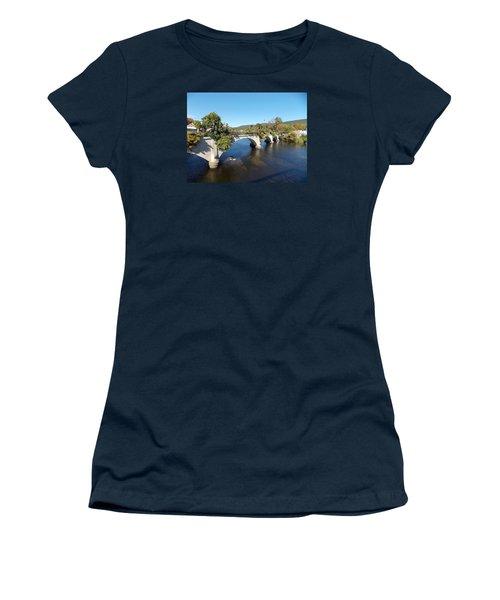 Bridge Of Flowers Women's T-Shirt (Athletic Fit)