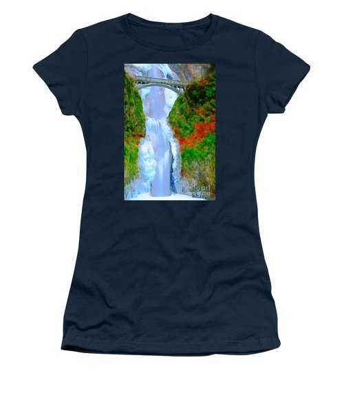Bridge Over Beautiful Water Women's T-Shirt (Junior Cut) by Catherine Lott