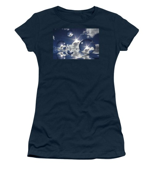 Bubbles In The Sun Women's T-Shirt (Athletic Fit)