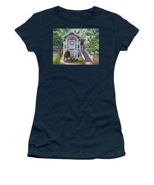 Alameda 1895 Queen Anne Women's T-Shirt (Junior Cut) by Linda Weinstock
