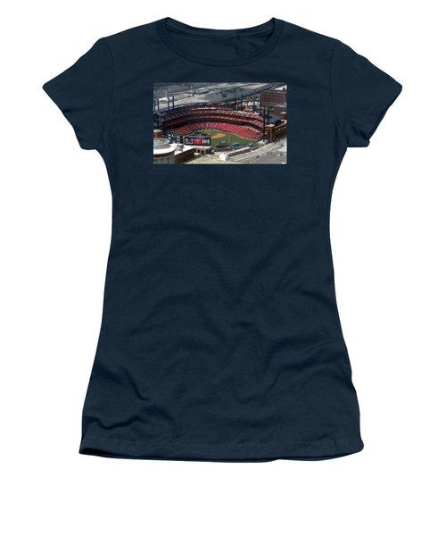 Busch Memorial Stadium Women's T-Shirt (Junior Cut) by Thomas Woolworth