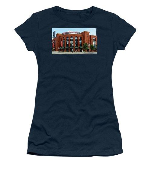 Busch Stadium Home Of The St Louis Cardinals Women's T-Shirt (Junior Cut) by Greg Kluempers