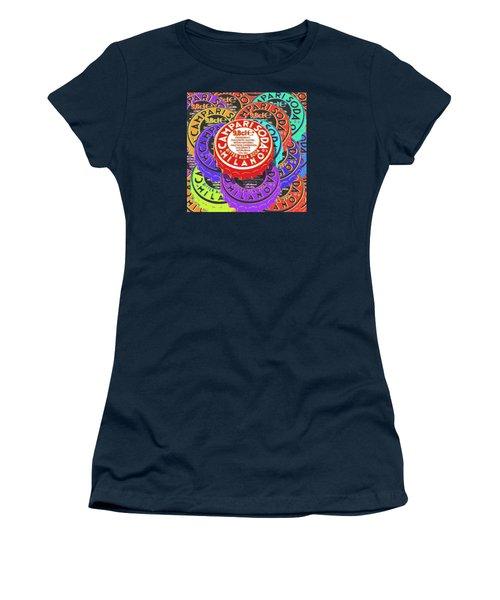 Campari Soda Caps Women's T-Shirt (Junior Cut) by Tony Rubino