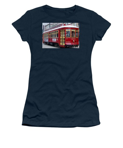 Canal Streetcar Nola Women's T-Shirt (Athletic Fit)