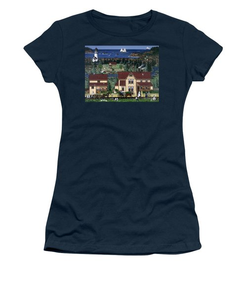 Women's T-Shirt (Junior Cut) featuring the painting Cape Blanco by Jennifer Lake