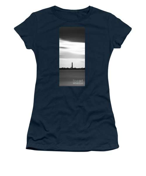 Cape May Lighthouse Narrow Long Exposure Bw Women's T-Shirt