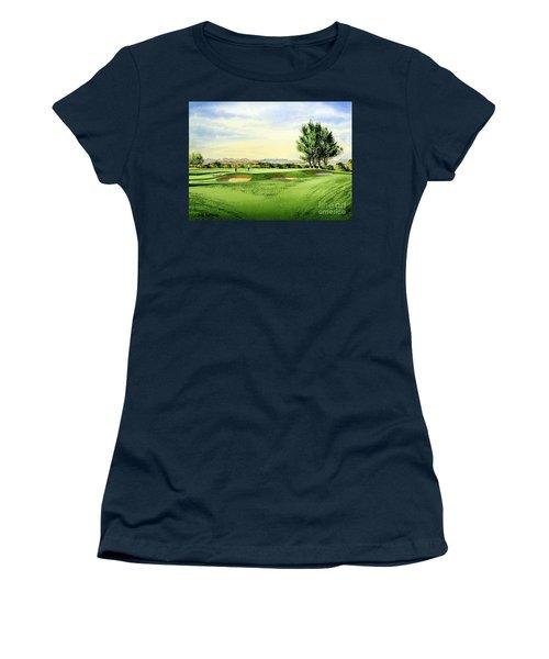 Carnoustie Golf Course 13th Green Women's T-Shirt (Junior Cut) by Bill Holkham