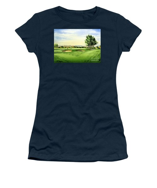 Carnoustie Golf Course 13th Green Women's T-Shirt (Athletic Fit)