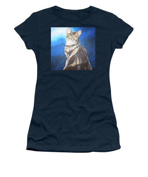 Cat Profile Women's T-Shirt (Athletic Fit)