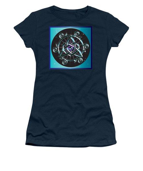 Celtic Triquetra Heart Women's T-Shirt (Athletic Fit)