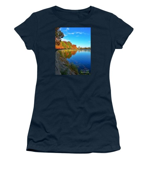 Central Park Autumn Landscape Women's T-Shirt (Athletic Fit)