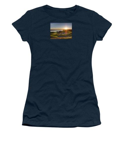 Chambers Bay Sun Flare - 2015 U.s. Open  Women's T-Shirt (Junior Cut) by Chris Anderson
