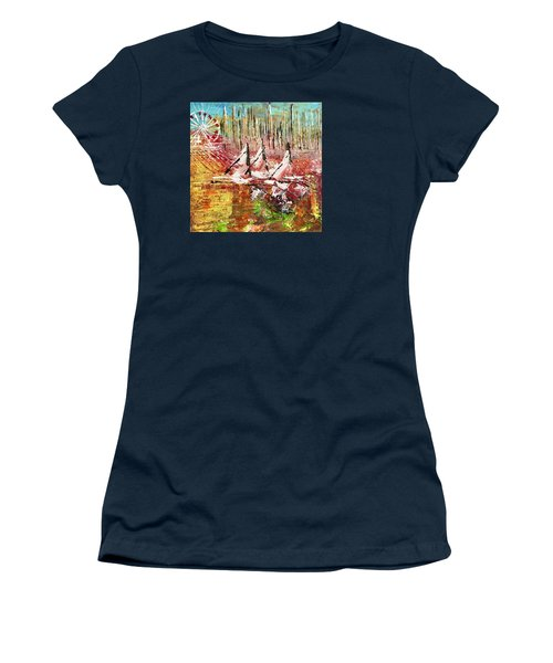 Chicago At It's Best  Women's T-Shirt (Junior Cut) by George Riney