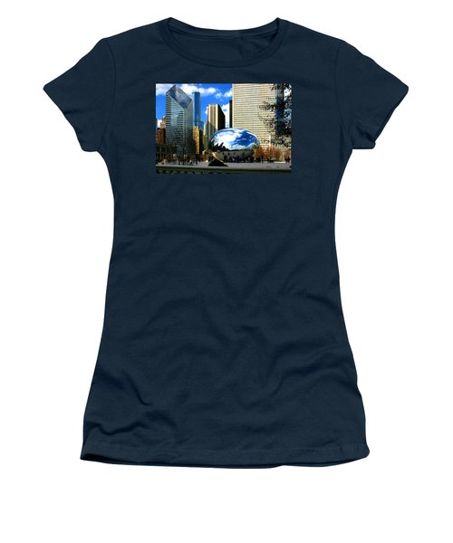 Chicago Skyline Bean Women's T-Shirt