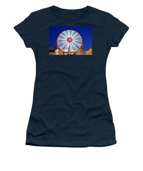 Christmas Ferris Wheel Women's T-Shirt (Junior Cut) by George Atsametakis