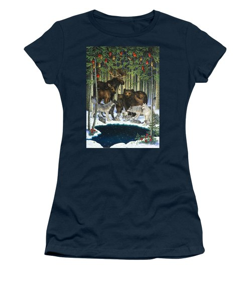 Christmas Gathering Women's T-Shirt (Athletic Fit)