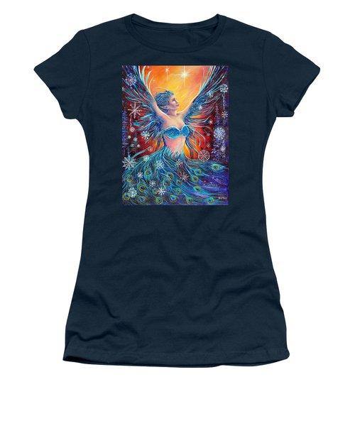 Christmas Spirit Women's T-Shirt (Junior Cut) by Gail Butler