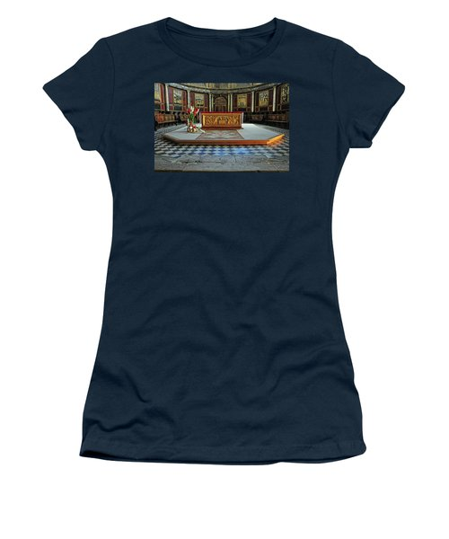 Women's T-Shirt (Junior Cut) featuring the photograph Church Alter Provence France by Dave Mills