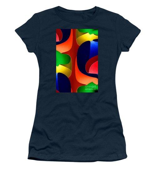Women's T-Shirt (Junior Cut) featuring the digital art Color Maze by Rafael Salazar