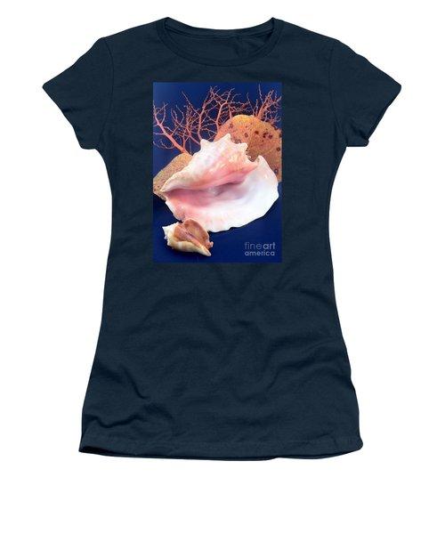 Conch Still Life Women's T-Shirt (Junior Cut) by Barbie Corbett-Newmin
