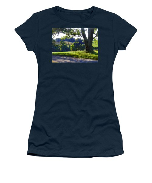 Country Landscape Women's T-Shirt (Athletic Fit)