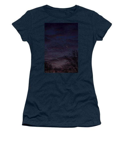 Crescent Moon And Venus Rising Women's T-Shirt