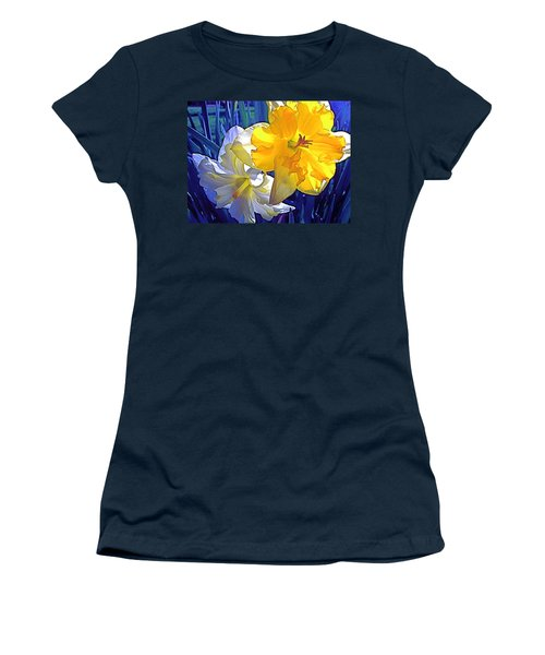 Women's T-Shirt (Junior Cut) featuring the photograph Daffodils 1 by Pamela Cooper