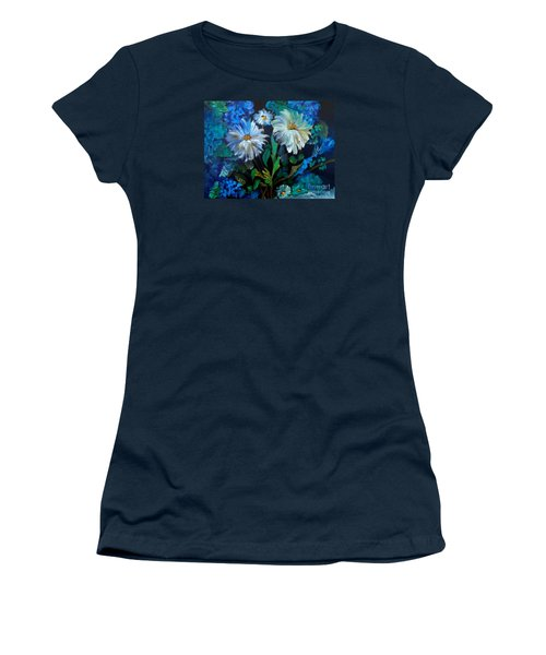 Daisies At Midnight Women's T-Shirt (Athletic Fit)