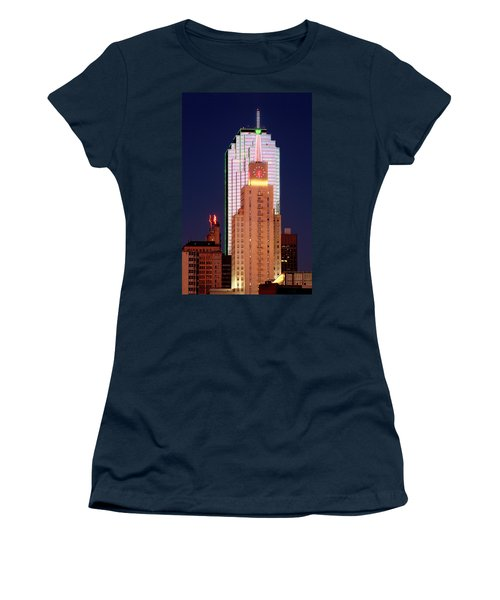 Dallas At Dawn Women's T-Shirt (Junior Cut) by David Perry Lawrence
