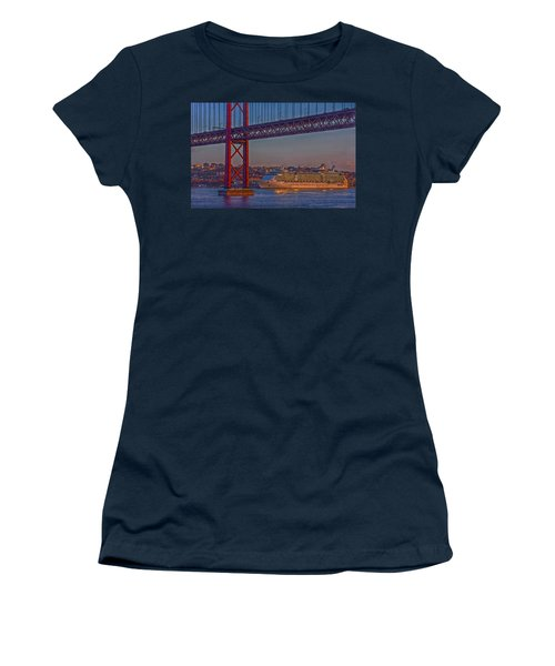 Dawn On The Harbor Women's T-Shirt (Junior Cut) by Hanny Heim
