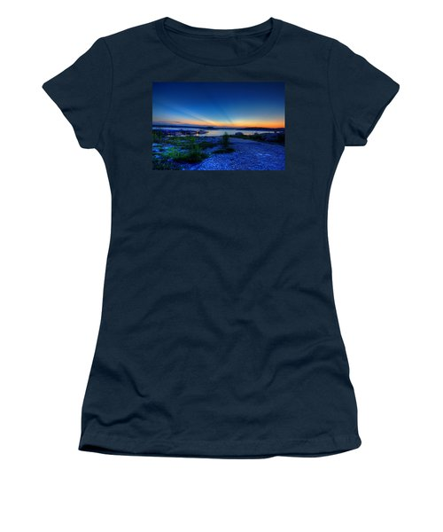 Women's T-Shirt (Junior Cut) featuring the photograph Days End by Dave Files